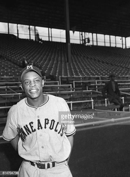 Photo of Willie Mays in batting position. Minor League photo.
