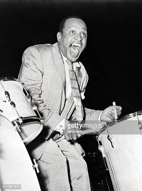 Lionel Hampton Jazz muician during performance at London's Empress Hall