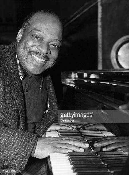 Count Basie famous American jazz pianist photographed in London 1957