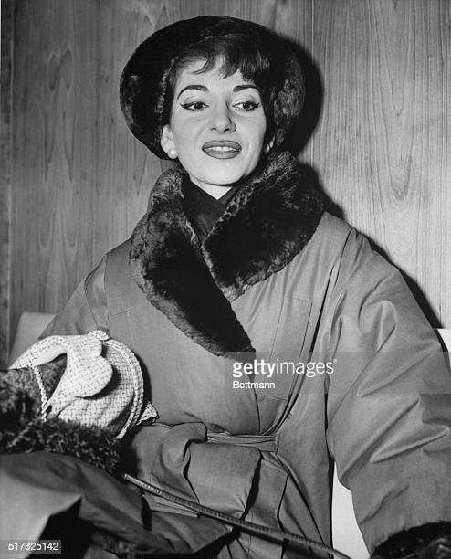 Singer Maria Callas arrives in New York