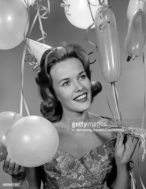 1960s 1950s WOMAN IN PARTY...