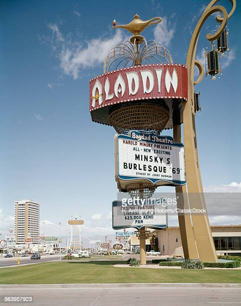 1960s 1969 ALADDIN HOTEL & CASINO LAS VEGAS NEVADA USA