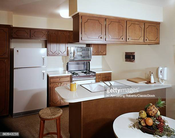 1960s 1970s GALLEY KITCHEN...