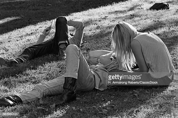 1960s 1970s HIPPIE COUPLE...