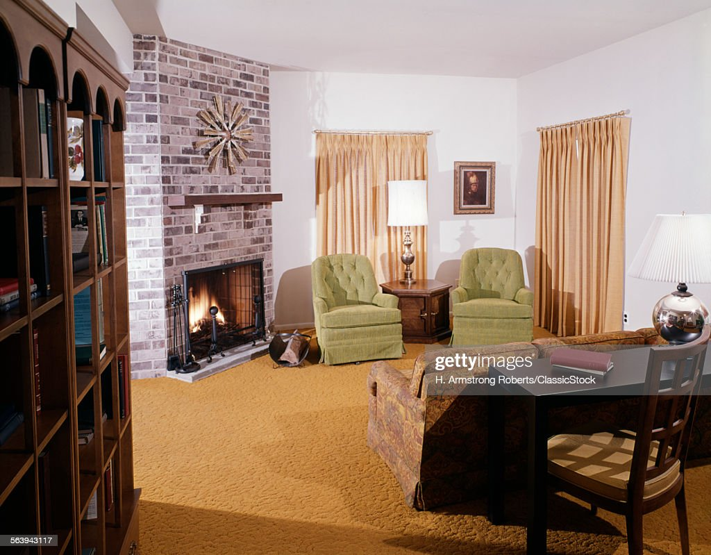 1960s 1970s living room stock photo getty images. Black Bedroom Furniture Sets. Home Design Ideas
