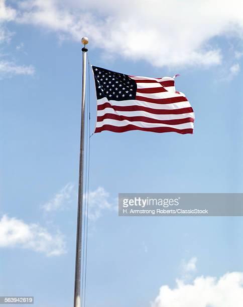 1960s AMERICAN FLAG ON...