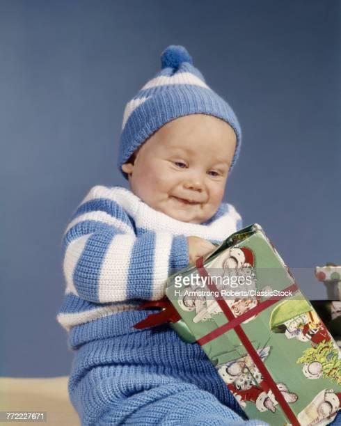 1960s BABY BOY BLUE WHITE...
