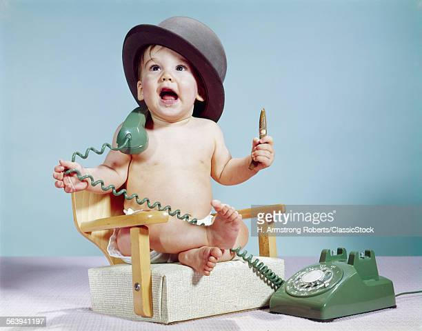 1960s BABY BOY SITTING...