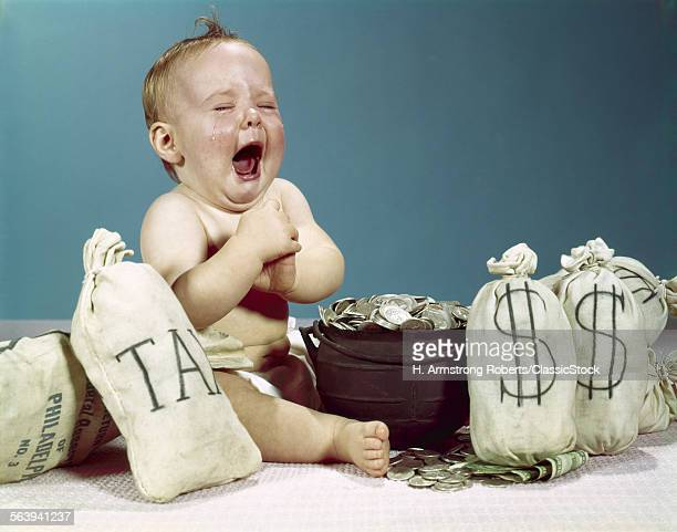 1960s BABY CRYING LAUGHING...