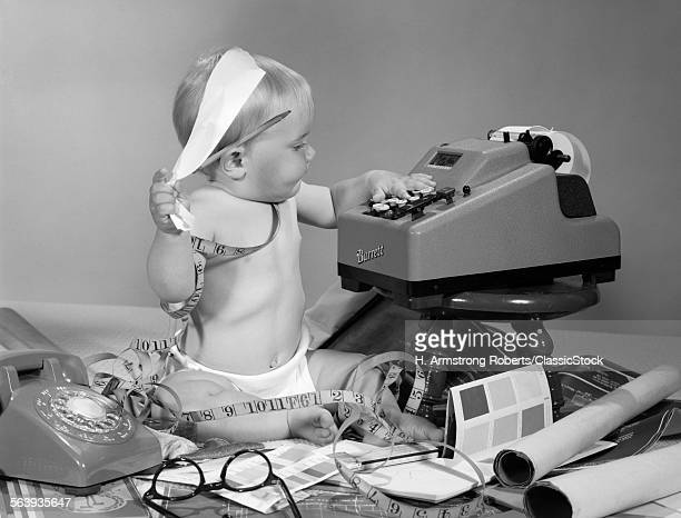 1960s BABY WITH ADDING...