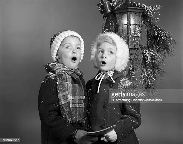 1960s BOY AND GIRL SINGING...