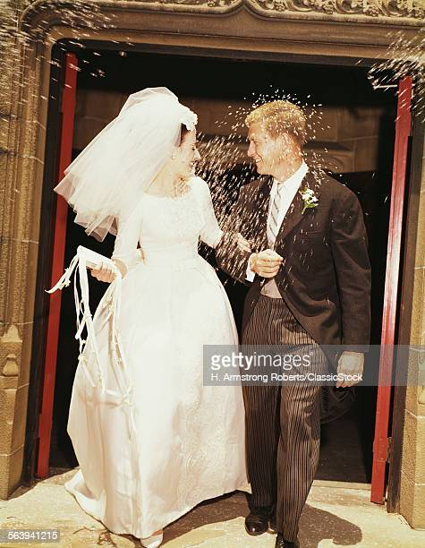 1960s BRIDE GROOM LEAVE...