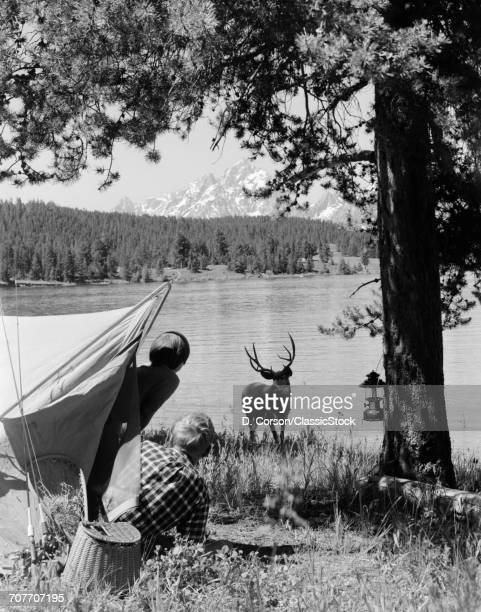 1960s CAMPERS AT GRAND...