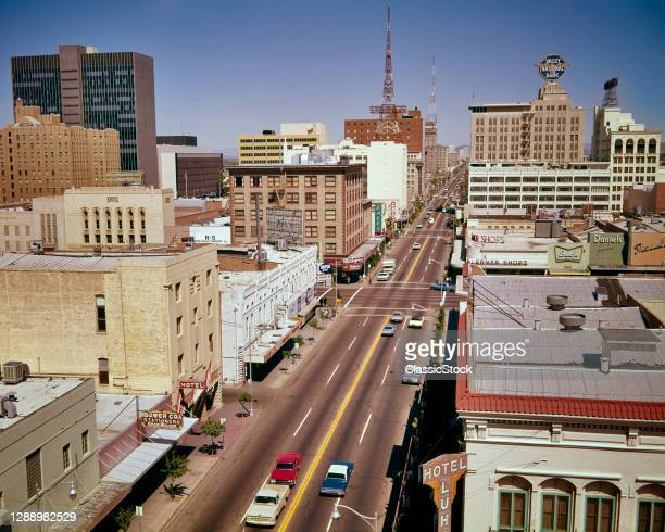1960s Cars On Central Avenue Downtown Phoenix Arizona USA