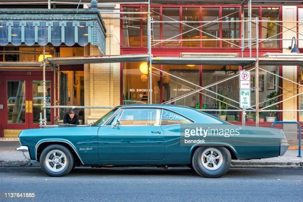 1960s chevrolet impala super sport 427 in portland oregon usa - chevrolet impala stock pictures, royalty-free photos & images