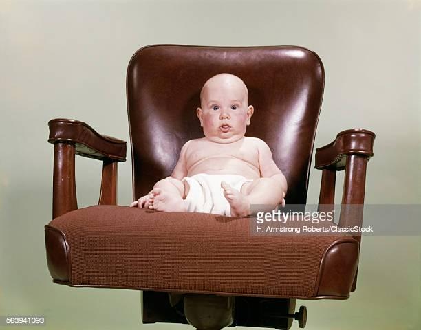 1960s CHUBBY BALD BABY...