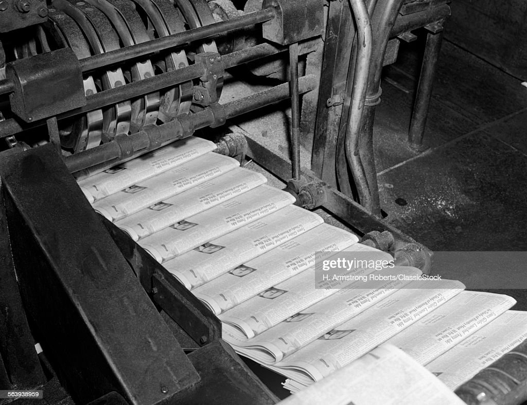 1960s CLOSE-UP OF PRINTING... : News Photo