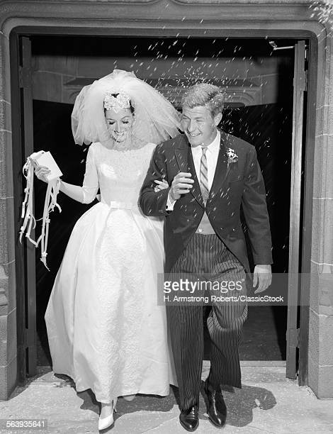 1960s COUPLE BRIDE AND...