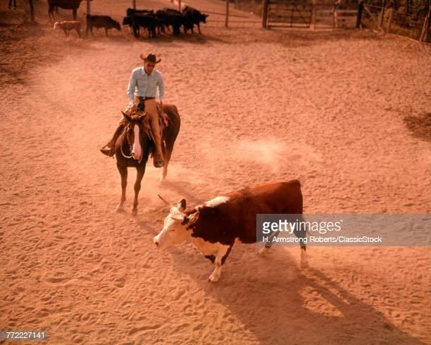 1960s COWBOY MAN RANCHER...