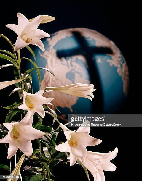 1960s EASTER LILIES AND...