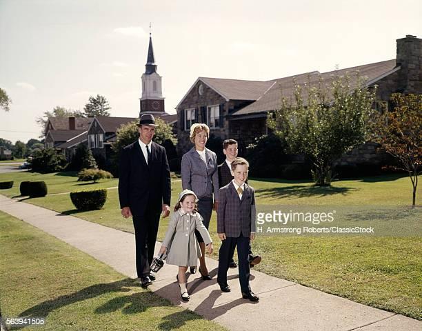 1960s FAMILYF 5 WALKING...