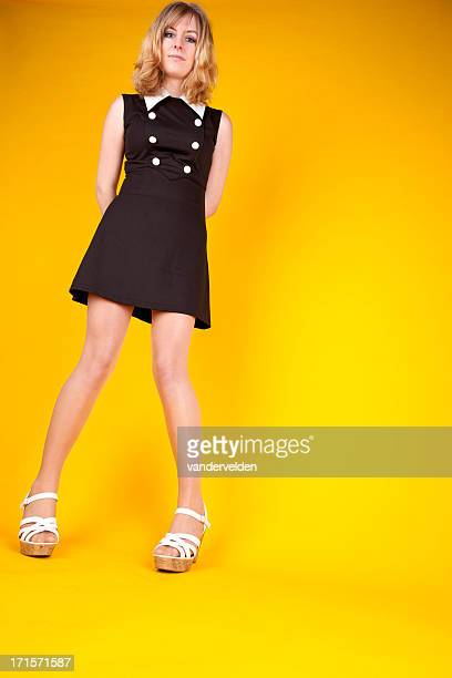 1960s fashion model - knock knees stock photos and pictures