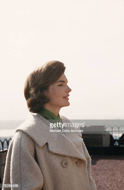 First Lady Jacqueline Kennedy enjoys the seaside circa the early1960s