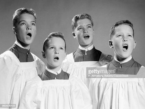 1950S 1960s FOUR CHOIR...