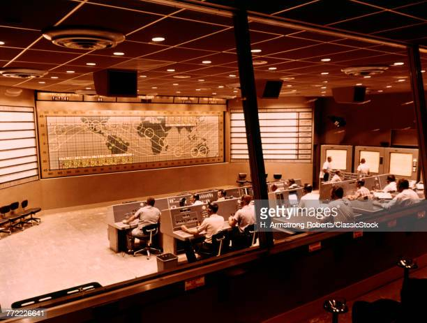 1960s INTERIOR OF MANNED...