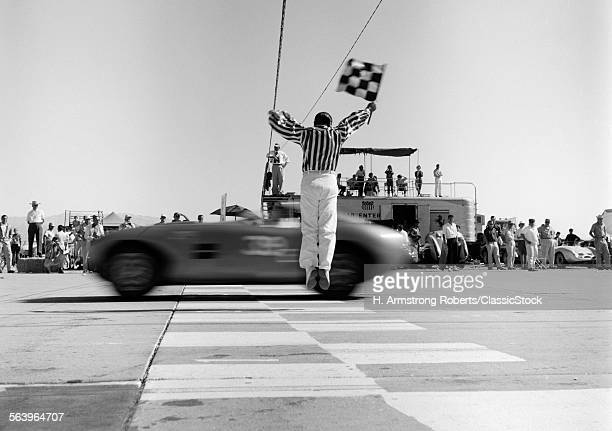 1960s MAN JUMPING WAVING...
