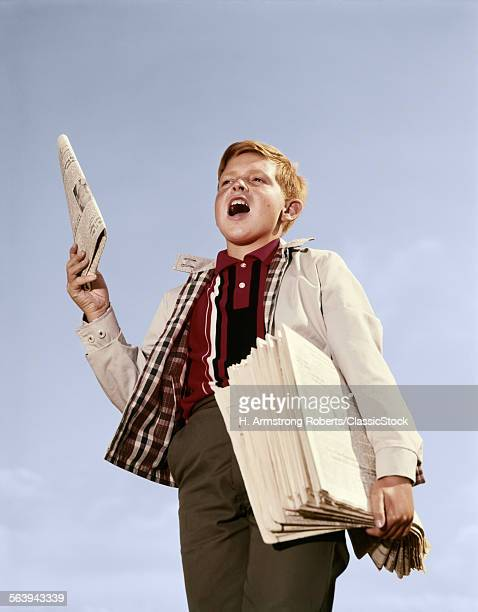 1960s PAPERBOY WITH STACK...