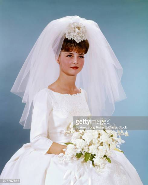 1960s PORTRAIT WOMAN BRIDE...