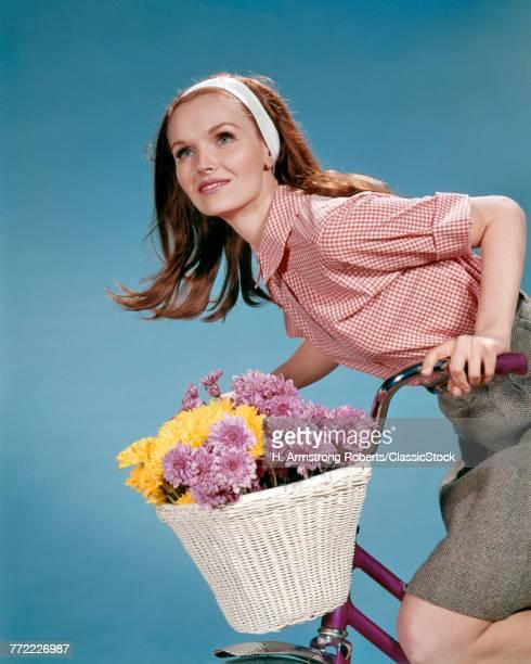 1960s REDHEAD WOMAN RIDING...