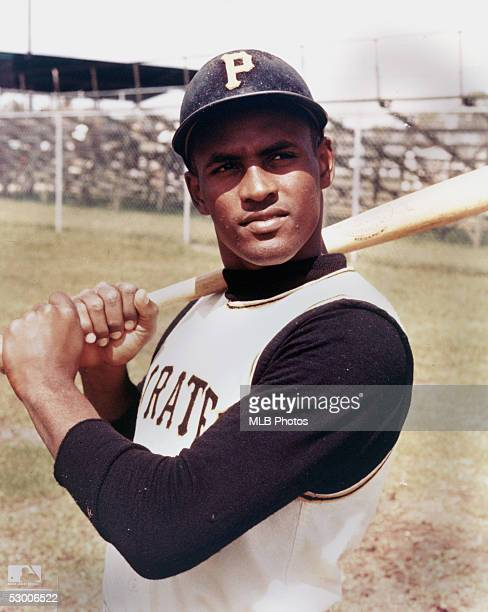 Roberto Clemente of the Pittsburgh Pirates poses for a circa 1960s publicity photo. Clemente spent his entire career with the Pirates, from 1955-72.