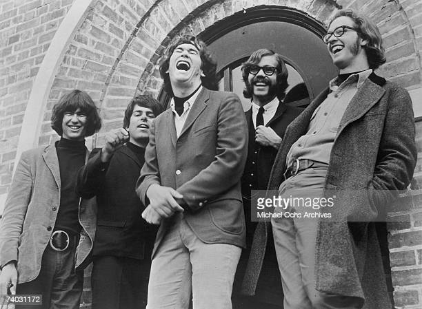 Rock band 'Sons of Champlin' pose for a late 1960's portrait 'Sons of Champlin' featured Bill Champlin with Geoff Palmer bassist David Schallock and...