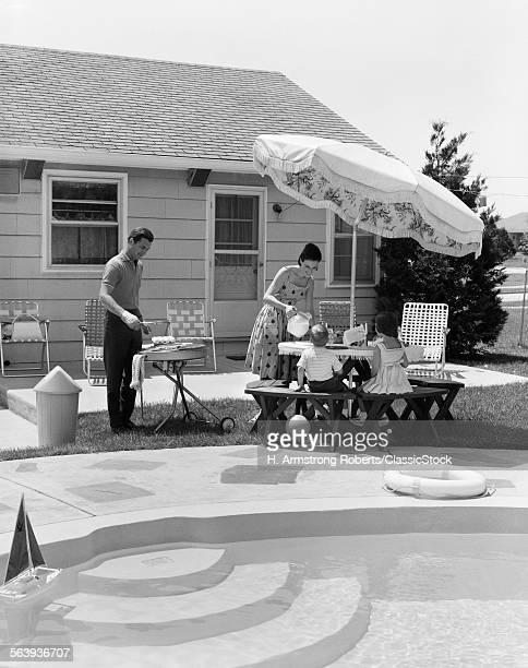 1960s SUMMER OUTDOOR...