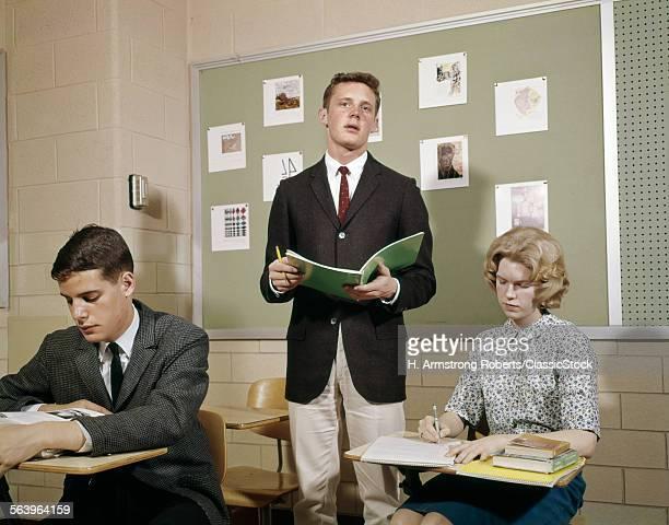 1960s TEEN STUDENTS BOYS...