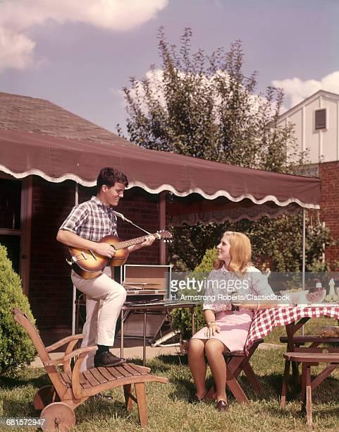 1960s TEENAGE BOY AND GIRL...