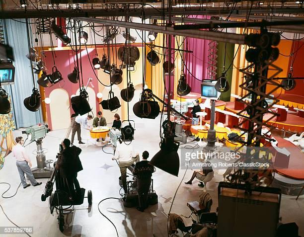 1960s TELEVISION STUDIO...