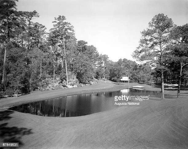 The 16th hole during a 1960s Masters Tournament at Augusta National Golf Club in Augusta Georgia
