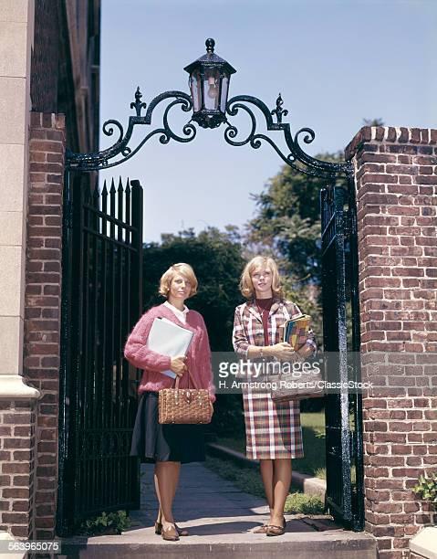 1960s TWO FEMALE COLLEGE...