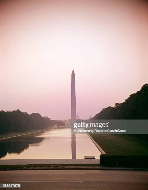 1960s WASHINGTON MONUMENT AND REFLECTING POOL WASHINGTON DC USA