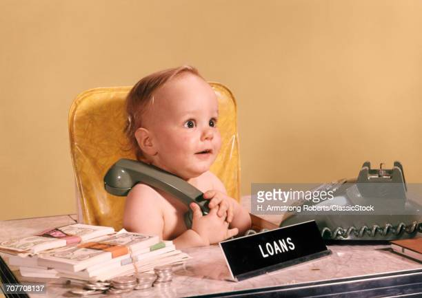 1960s WIDE EYED BABY...