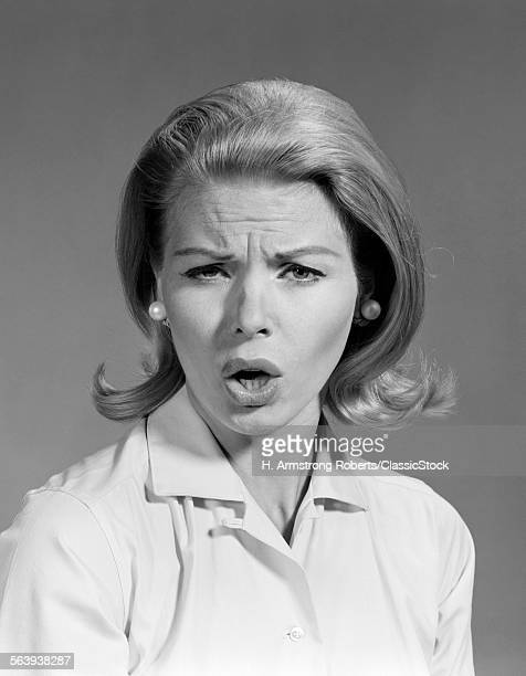 1960s WOMAN BLOND HAIR IN...