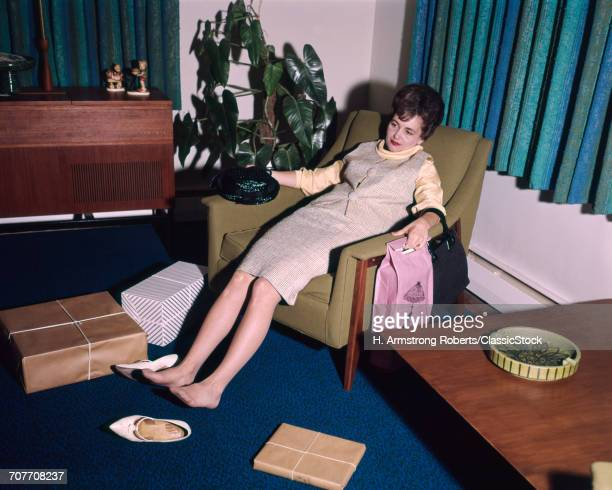1960s WOMAN TIRED...