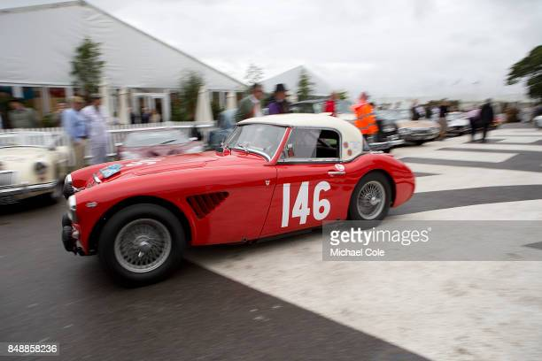 1961Austin Healey 3000 Mk 1 driven by entrant Michael Darcey Paul Woolmer in the Kinrara Trophy at Goodwood on September 8th 2017 in Chichester...