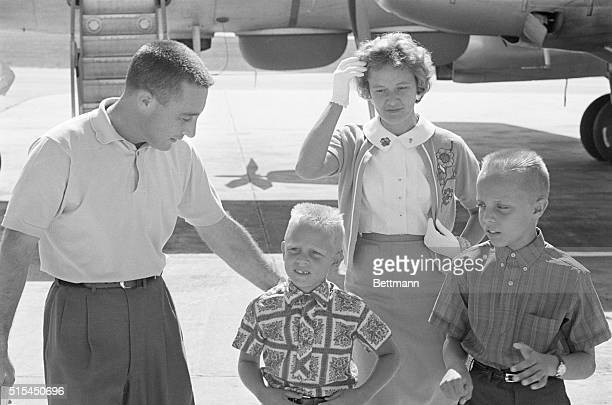 1961Patrick Air Force Base Florida Astronaut Virgil Grissom with his family