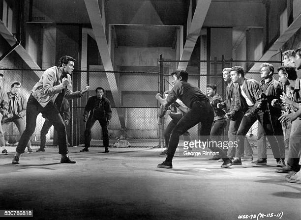 1961Scene from 'West Side Story' UA film Gangwar dance scene in which both the leaders of the Jets and the Sharks are killed LTR Richard Beymer...