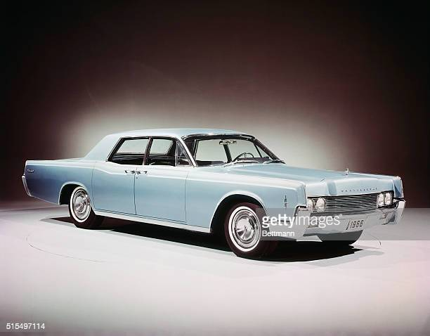 Release photo of a 1966 Lincoln Continental FourDoor Sedan