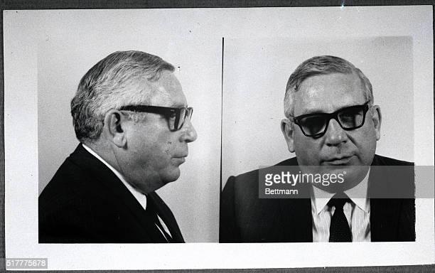 1967Photo shows Antonio 'Tony Ducks' Corallo alleged Mafia leader Closeup facing forwards in profile